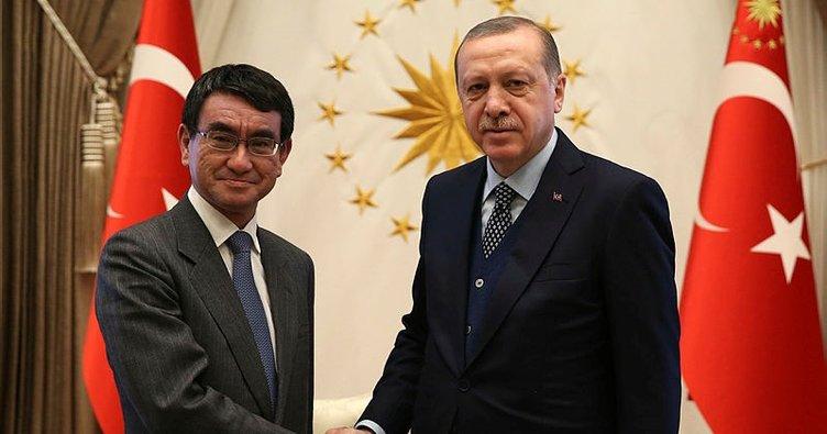 Erdoğan, Japonya Dışişleri Bakanı Kono'yu kabul etti