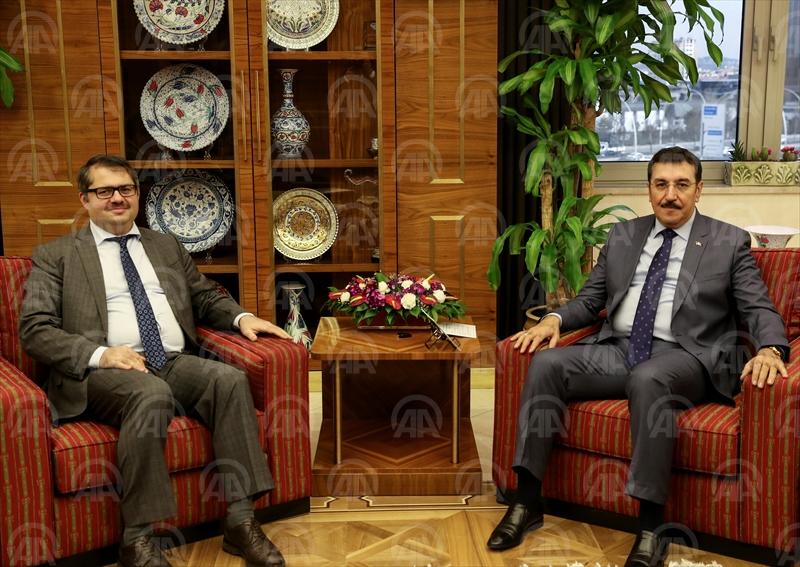 Gümrük ve Ticaret Bakanı Bülent Tüfenkci'nin kabulü