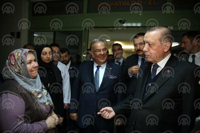 Cumhurbaşkanı Erdoğan'dan ziyaret