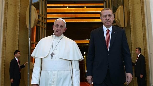 Erdoğan'dan Papa'ya Kudüs telefonu