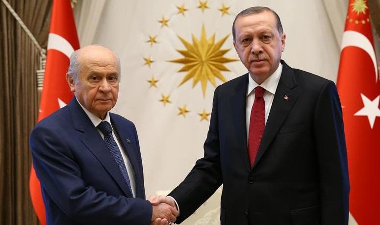 Erdoğan, Bahçeli'yi kabul etti!