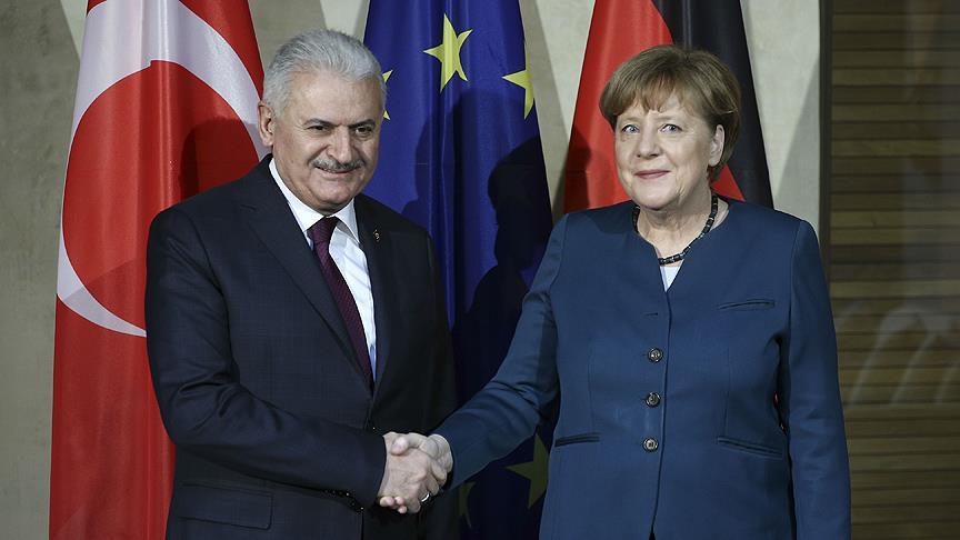 Başbakan Yıldırım ile Almanya Başbakanı Merkel bir araya gelecek
