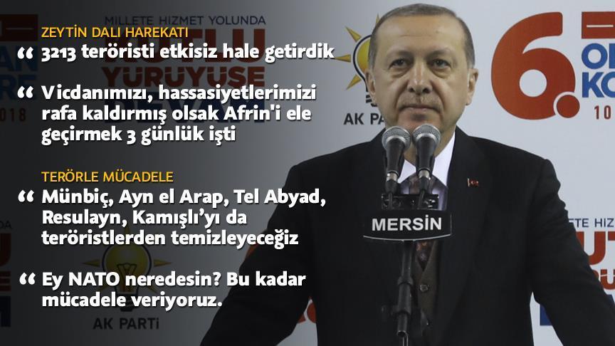 """""""Zeytin Dalı Harekatı'nda 3213 terörist etkisiz hale getirildi"""""""