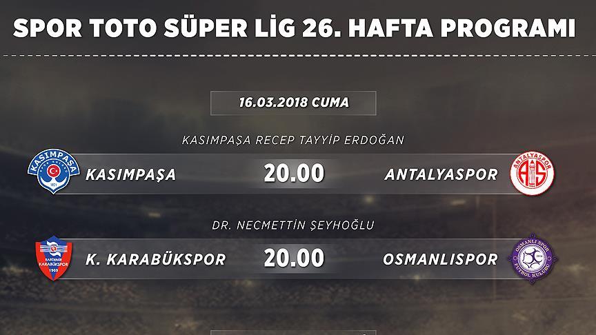 Spor Toto Süper Lig'de 26 hafta heyecanı başlıyor