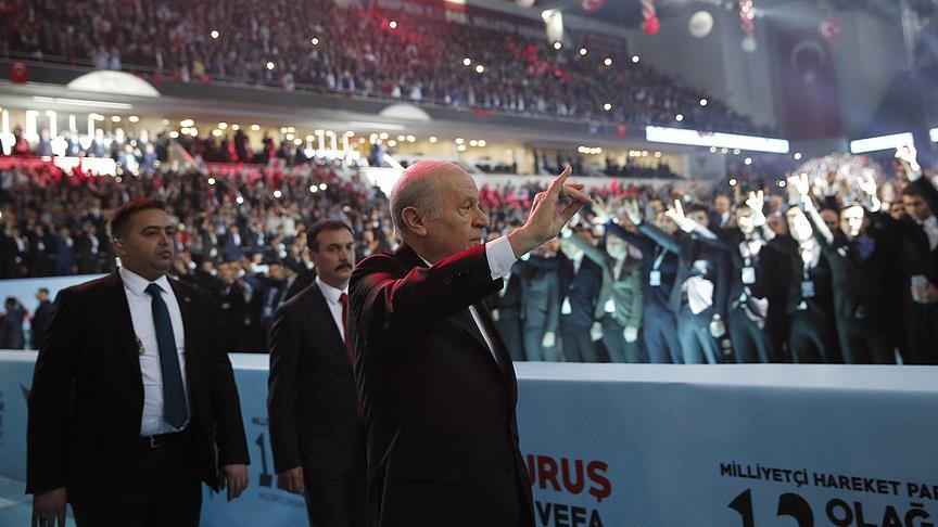 Bahçeli, MHP Genel Başkanlığına yeniden seçildi!