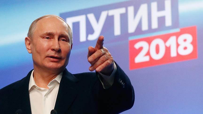 Putin yeniden devlet başkanı seçildi!