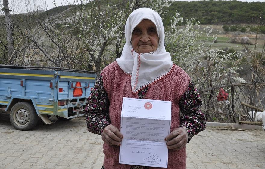 Erdoğan'dan orman sevdalısı yaşlı kadına mektup