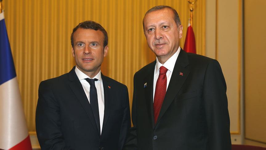 Cumhurbaşkanı Erdoğan, Macron ile görüştü!
