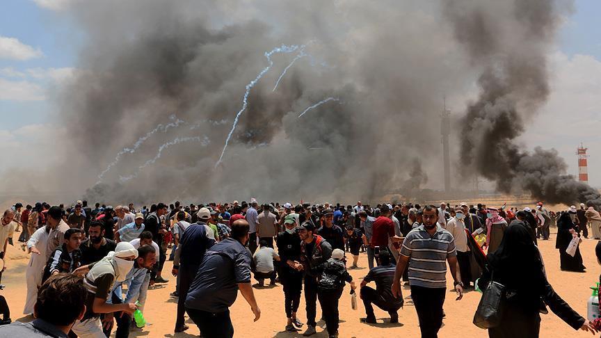 Gazze'deki gösterilerde 59 Filistinli şehit oldu