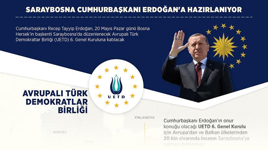 Saraybosna Cumhurbaşkanı Erdoğan'a hazırlanıyor