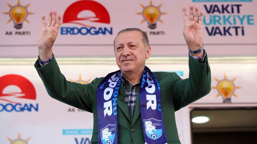 Cumhurbaşkanı Erdoğan: Usta yola devam ediyor