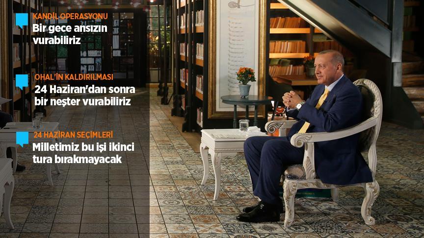 Erdoğan: Milletimiz bu işi ikinci tura bırakmayacak