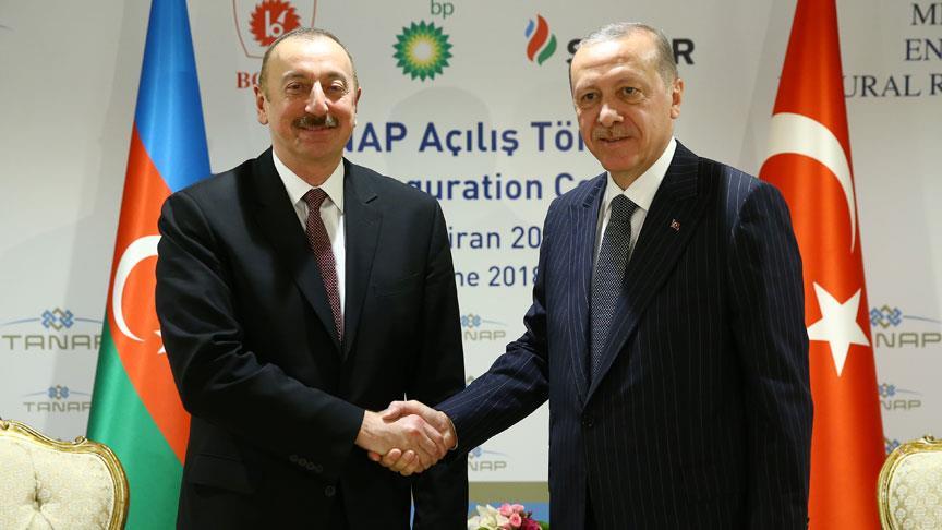 Cumhurbaşkanı Erdoğan, Aliyev ile görüştü!