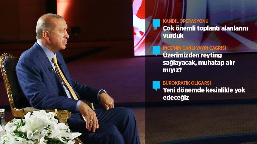 Cumhurbaşkanı Erdoğan: Kandil'de toplantı alanlarını vurduk