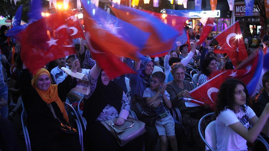 Sancak'ta Cumhurbaşkanı Erdoğan'a destek mitingi