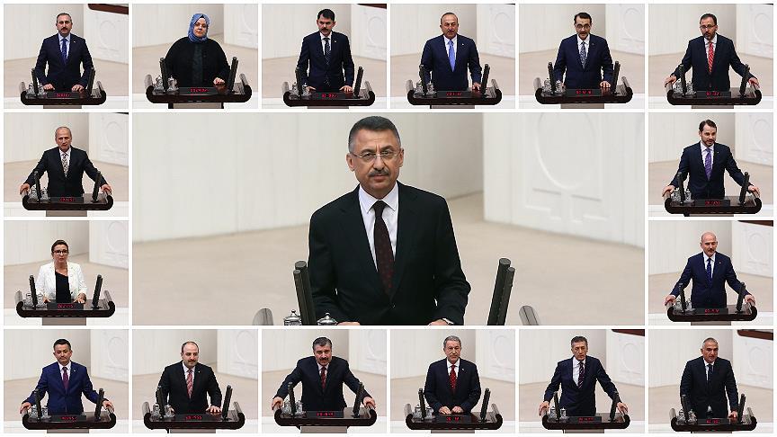 Cumhurbaşkanı yardımcısı ve yeni bakanlar yemin etti