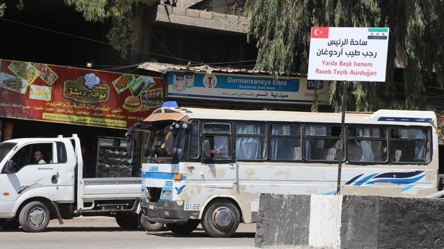 Afrin'de bulvarlara Recep Tayyip Erdoğan ve Zeytin Dalı isimleri verildi