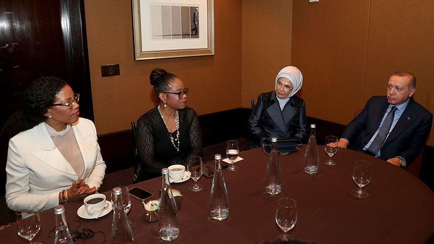 Erdoğan Malcolm X'in kızlarını kabul etti