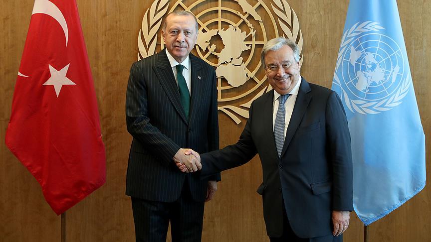 Erdoğan ile Guterres görüştü
