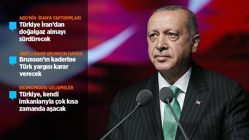 Cumhurbaşkanı Erdoğan gündemi değerlendirdi