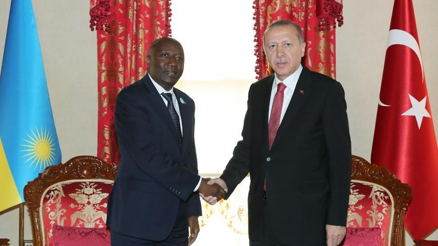 Cumhurbaşkanı Erdoğan Wirtu ve Ngirente'yi kabul etti
