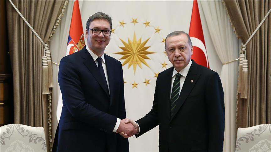 Cumhurbaşkanı Erdoğan, Vucic ile telefonda görüştü