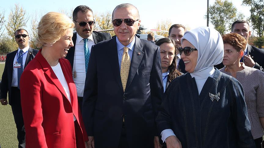 Cumhurbaşkanı Erdoğan Komrat'ta...