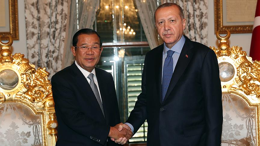 Cumhurbaşkanı Erdoğan Kamboçya Başbakanı Sen'i kabul etti