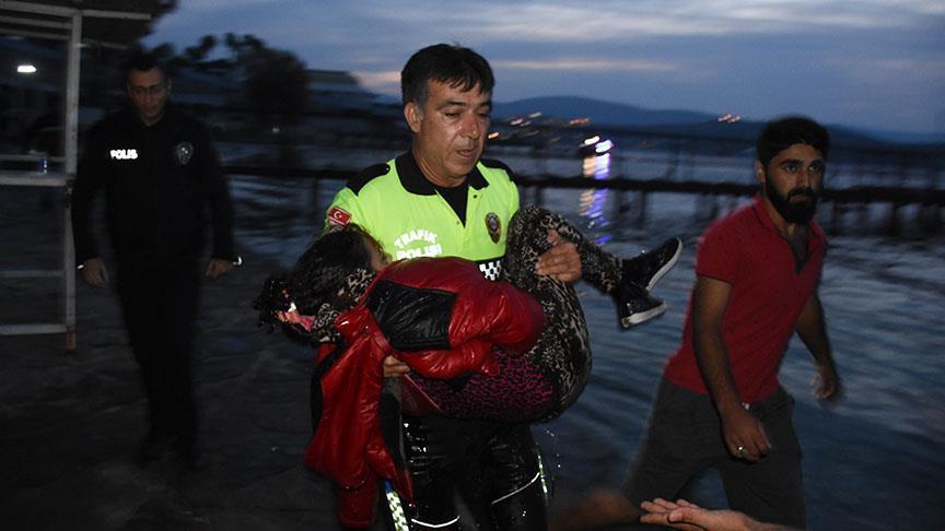 Türk polisi göçmen kız için gözyaşı döktü!