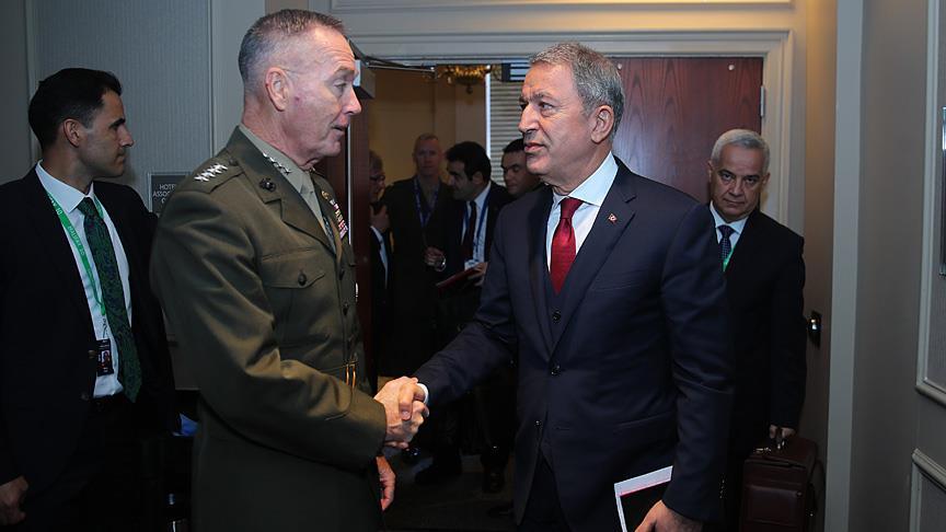 Akar, ABD Genelkurmay Başkanı Dunford ile görüştü