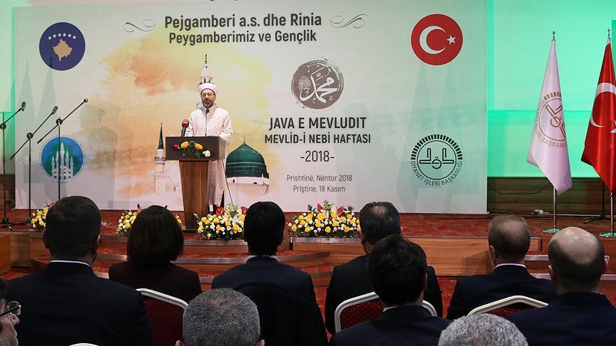 Diyanet İşleri Başkanı Erbaş: Kimliği oluşturan asıl unsur din ve inançtır