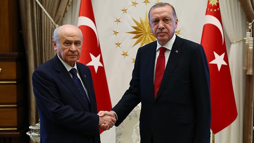 Erdoğan ile Bahçeli yarın görüşecek!