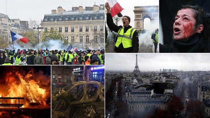 """Fransa'da """"sarı yelekliler"""" isyanı büyüyor"""