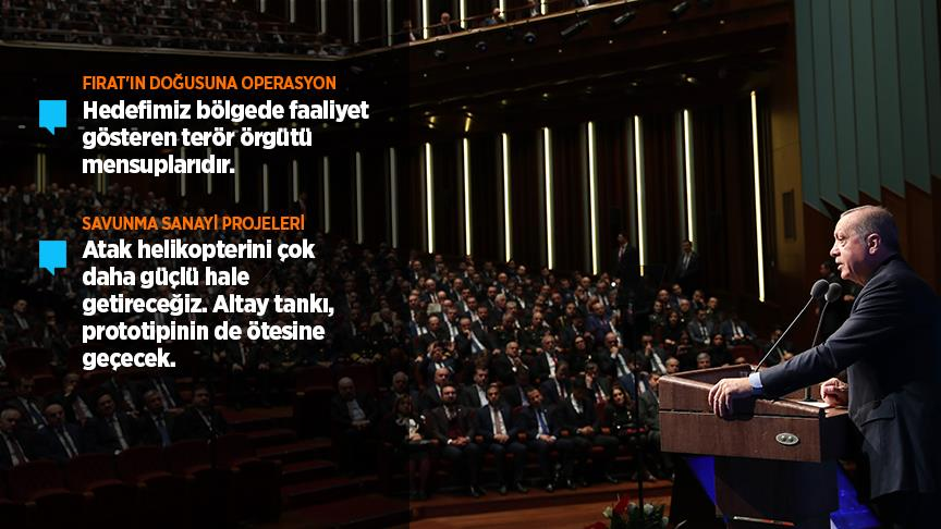 Erdoğan: Fırat'ın doğusuna harekat birkaç gün içinde başlayacak!