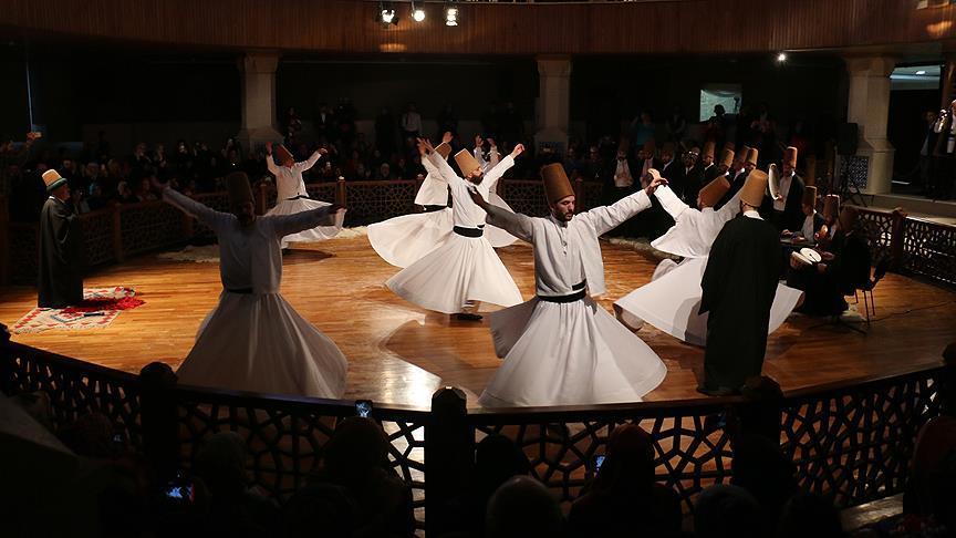 Mevlana'yı anma törenlerinin sekizinci günü etkinlikleri sona erdi