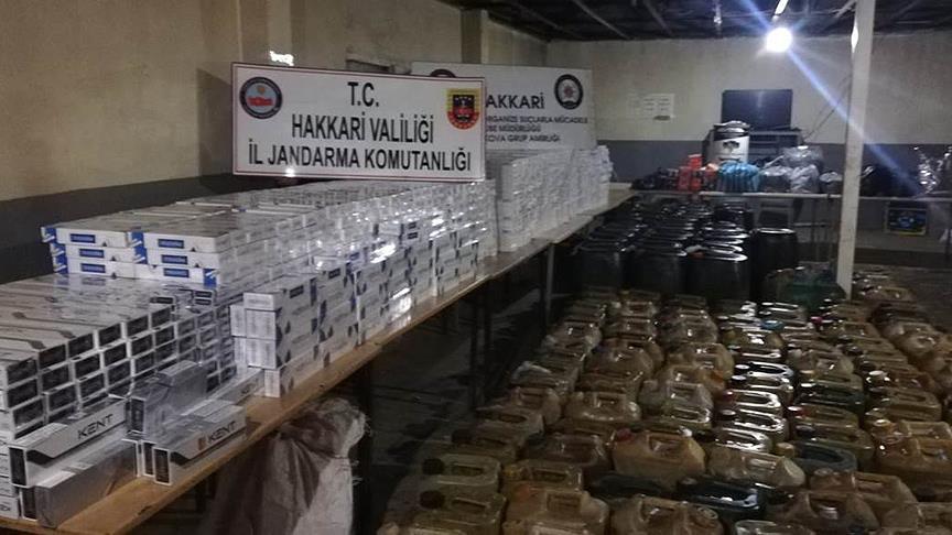 Hakkari'de terör örgütü PKK'nın finans kaynağına darbe