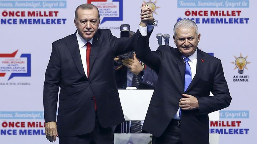 AK Parti'nin İstanbul Büyükşehir Belediye Başkan adayı Binali Yıldırım