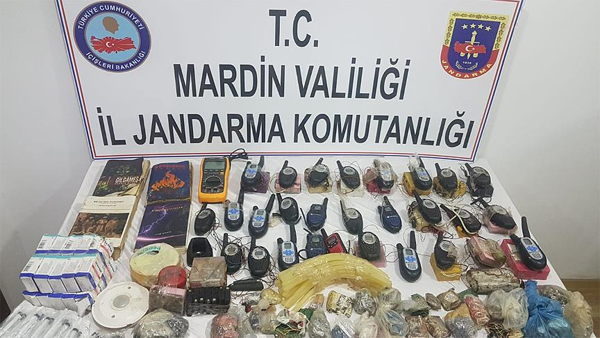 Mardin'de 191 kilogram patlayıcı ele geçirildi
