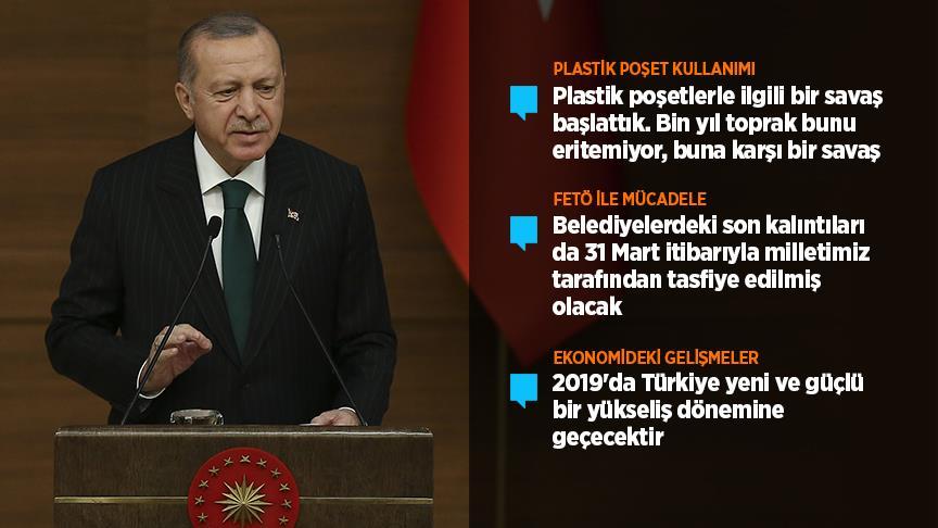 Cumhurbaşkanı Erdoğan: 31 Mart kampanyasında file ve bez torba kullanacağız