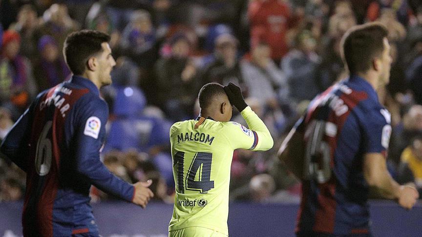 Barcelona Kral Kupası'nda Levante'ye 2-1 yenildi