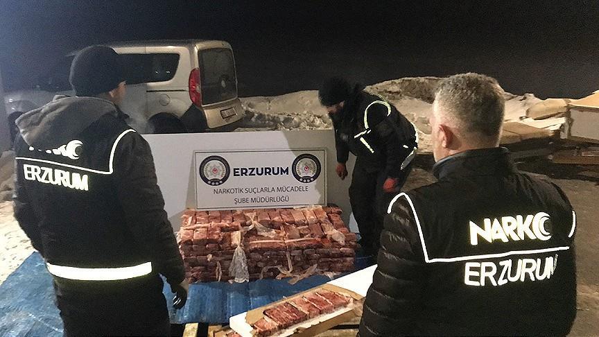 Erzurum'da 217,5 kilogram eroin ele geçirildi!