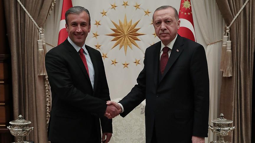 Cumhurbaşkanı Erdoğan, Tareck El Aissami'yi kabul etti