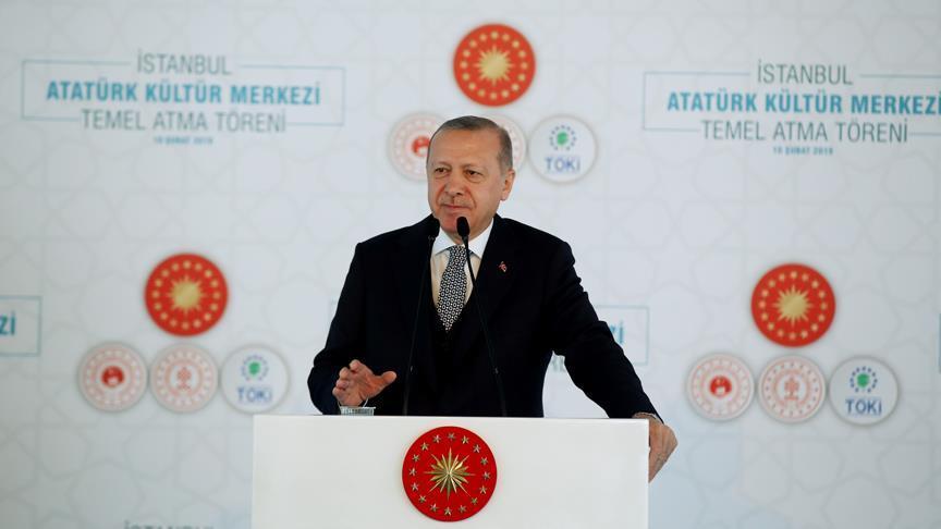 Cumhurbaşkanı Erdoğan: İstanbul Atatürk Kültür Merkezi bir zafer anıtı olacaktır