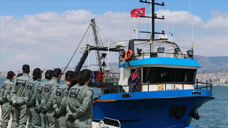 'Birlik Operasyonu'nun yapıldığı balıkçı teknesi İzmir'e getirildi