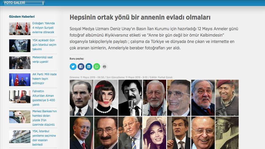 """""""Basın İlan Kurumundan 'Anneler Günü' albümü"""""""