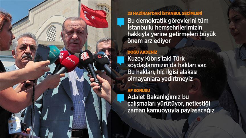 Cumhurbaşkanı Erdoğan: İstanbul dışına çıkmış vatandaşlarımızın seçim için dönüşleri önemli