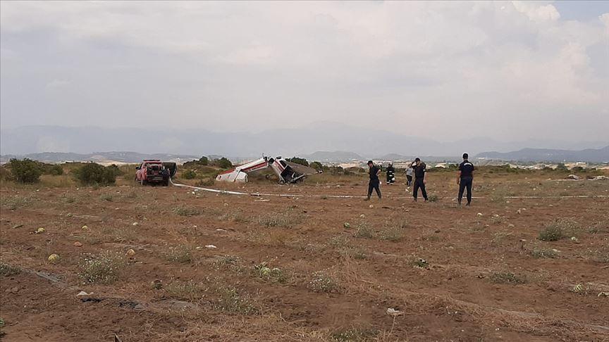 Antalya'da sivil eğitim uçağı düştü: 1 ölü