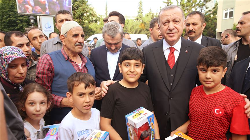 Cumhurbaşkanı Erdoğan'dan Bağcılar Belediyesi'ne ziyaret