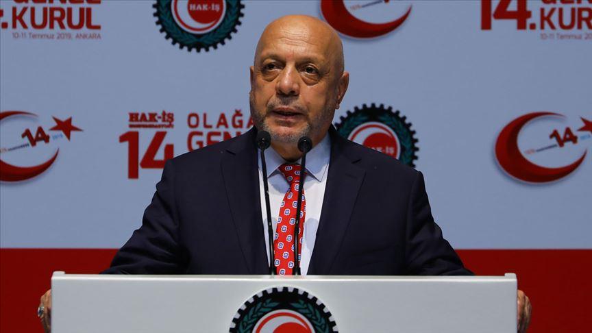Hak-İş'te Mahmut Arslan yeniden genel başkanlığa seçildi
