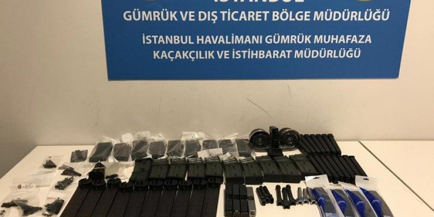 İstanbul Havalimanı'nda silah parçaları ele geçirildi!